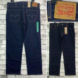 NWT LEVIS 505 Sz 38 x 32 Regular Dark Wash Jeans